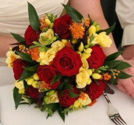 Wedding Flower Designs - Rose and Freesia